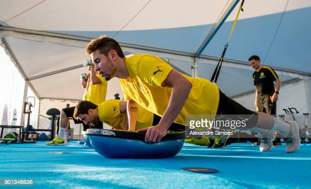 Raphael Guerreiro of Borussia Dortmund during the second day in the training camp in Marbella on January 4 2018 in Marbella Spain