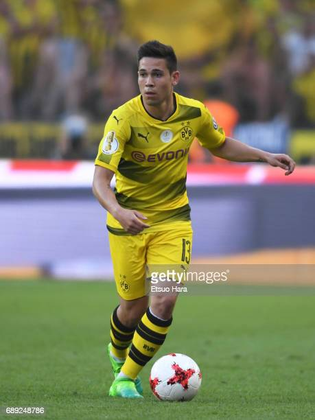 Raphael Guerreiro of Borussia Dortmund in action during the DFB Cup Final match between Eintracht Frankfurt and Borussia Dortmund at Olympiastadion...