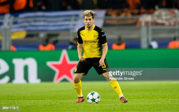 Raphael Guerreiro of Borussia Dortmund in action during the UEFA Champions League match between Borussia Dortmund and APOEL Nikosia at Signal Iduna...