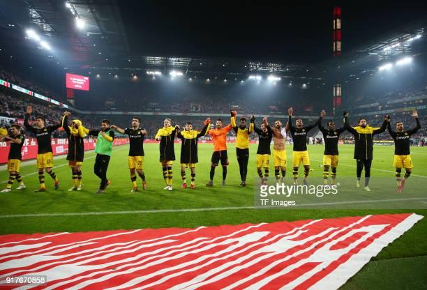 Raphael Guerreiro of Dortmund Julian Weigl of Dortmund Mahmoud Dahoud of Dortmund Nuri Sahin of Dortmund Sokratis Papastathopoulos of Dortmund Andre...
