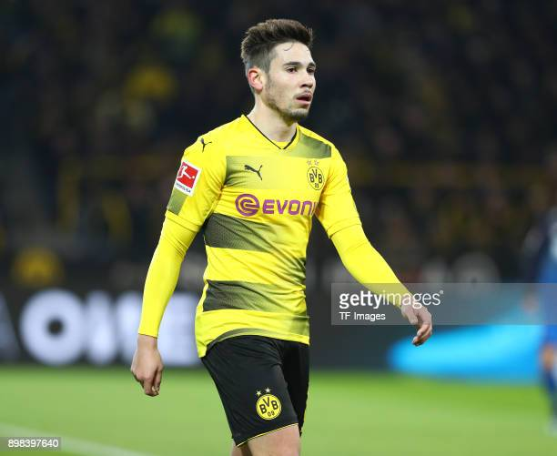 Raphael Guerreiro of Dortmund looks on during the Bundesliga match between Borussia Dortmund and TSG 1899 Hoffenheim at Signal Iduna Park on December...