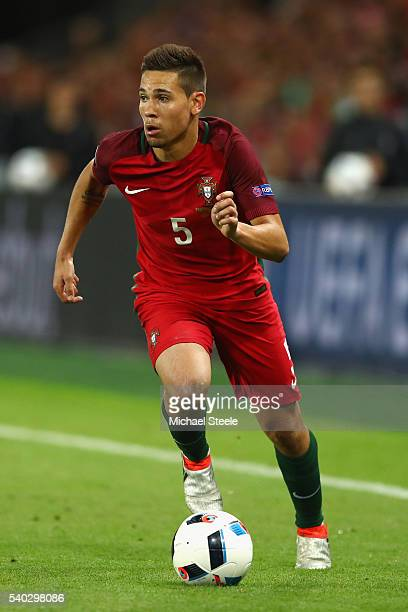 Raphael Guerreiro of Portugal during the UEFA EURO 2016 Group F match between Portugal and Iceland at Stade GeoffroyGuichard on June 14 2016 in...