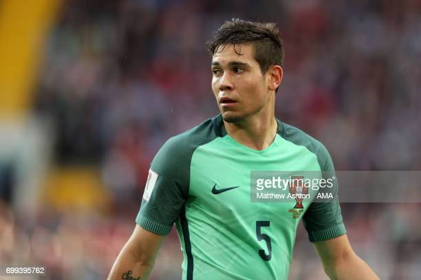 Raphael Guerreiro of Portugal in action during the FIFA Confederations Cup Russia 2017 Group A match between Russia and Portugal at Spartak Stadium...