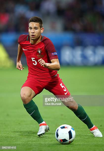 Raphael Guerreiro of Portugal in action during the UEFA EURO 2016 Group F match between Portugal and Iceland at Stade GeoffroyGuichard on June 14...