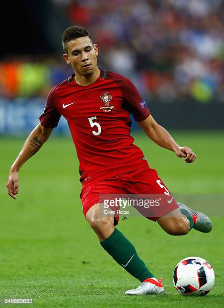 Raphael Guerreiro of Portugal in action during the UEFA EURO 2016 Final match between Portugal and France at Stade de France on July 10 2016 in Paris...