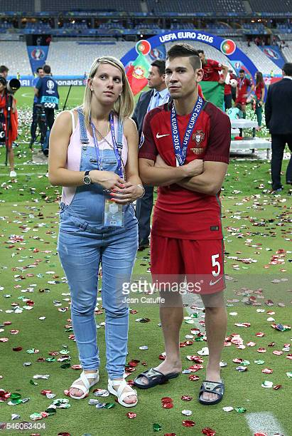 Raphael Guerreiro of Portugal looks on following the UEFA Euro 2016 final match between Portugal and France at Stade de France on July 10 2016 in...