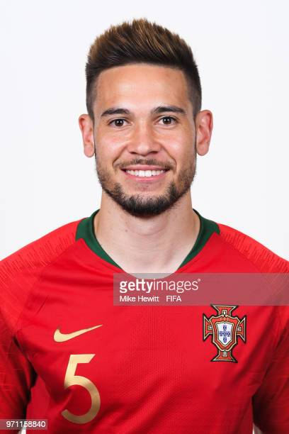 Raphael Guerreiro of Portugal poses for a portrait during the official FIFA World Cup 2018 portrait session on June 10 2018 in Moscow Russia