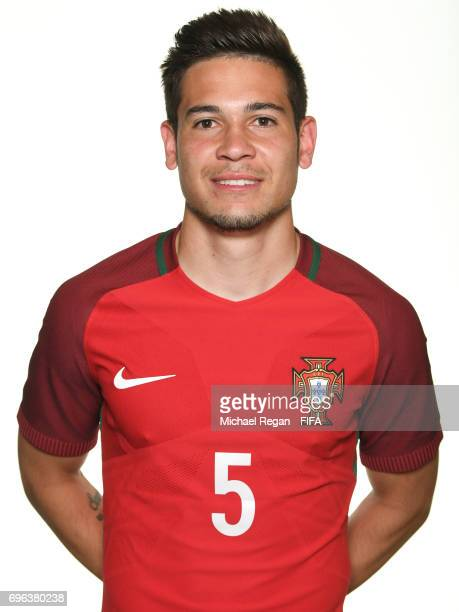 Raphael Guerreiro poses for a picture during the Portugal team portrait session on June 15 2017 in Kazan Russia