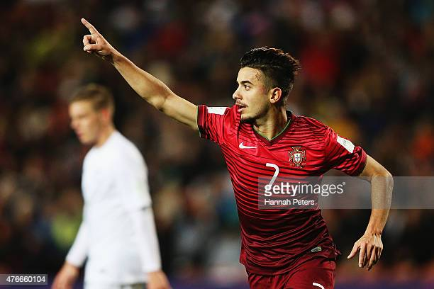 Raphael Guzzo of Portugal celebrates after scoring a goal during the FIFA U-20 World Cup New Zealand 2015 Round of 16 match between Portugal and New...