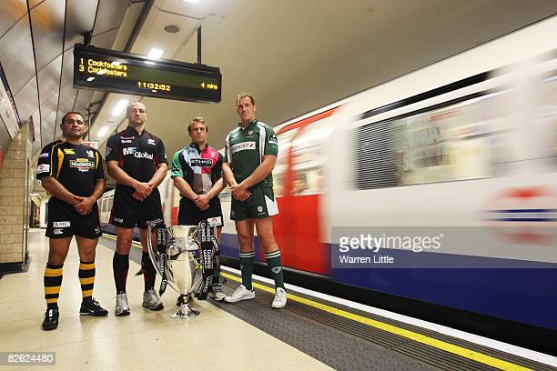 Raphael Ibanez of London Wasps Steve Borthwick of Saracens Will Skinner of Harlequins and Bob Casey of London Irish the captains of the London based...