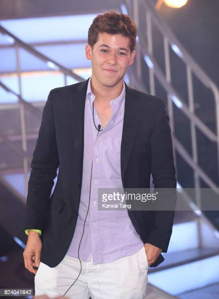 Raphael Korine is the runnerup as he leaves the Big Brother house during the 2017 Big Brother Final at Elstree Studios on July 28 2017 in Borehamwood...