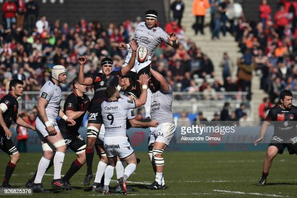 Raphael Lakafia of Toulon during the French Top 14 match between Lyon OU and RC Toulon at Gerland Stadium on March 3 2018 in Lyon France