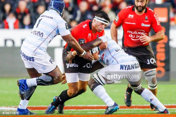 Raphael Lakafia of Toulon during the Top 14 match between Toulon and Racing 92 on November 19 2017 in Toulon France