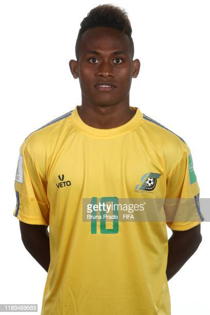Raphael Leai poses during the U17 Solomon Islands team presentation on October 25 2019 in Brasilia Brazil