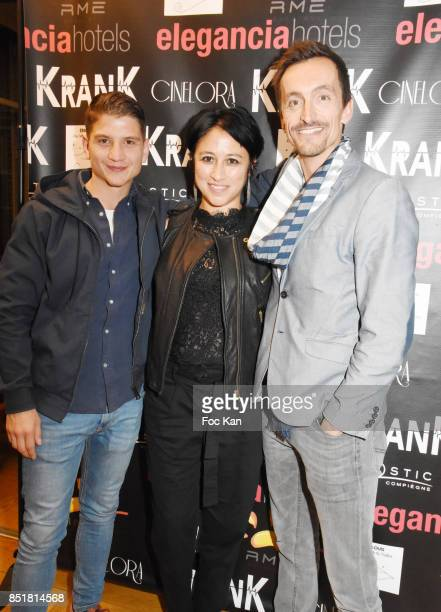 Raphael Liot Caroline Chu and Sebastien Gill attend Krank Screening Cocktail at SACD on September 22 2017 in Paris France