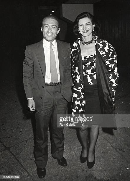 Raphael LopezSanchez and Paloma Picasso during Tina Turner Concert at Madison Square Garden at Madison Square Garden in New York City New York United...