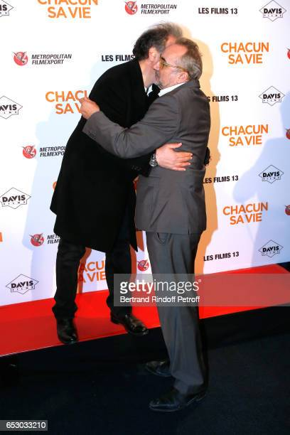 Raphael Mezrahi and Antoine Dulery attend the 'Chacun sa vie' Paris Premiere at Cinema UGC Normandie on March 13 2017 in Paris France