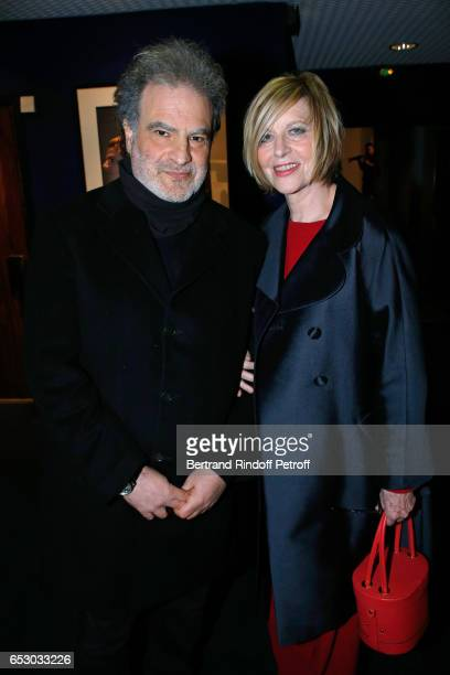 Raphael Mezrahi and Chantal Ladesou attend the 'Chacun sa vie' Paris Premiere at Cinema UGC Normandie on March 13 2017 in Paris France