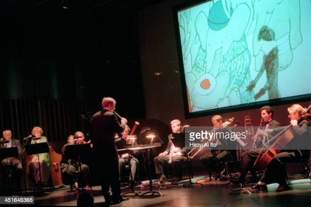 Raphael Mostel's The Travels of Baber at Florence Gould Hall on Sunday afternoon June 18 2000This imageNarrators are in far left Eli Wallach and Anne...