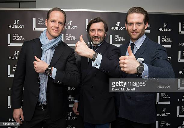 Raphael Nussbaumer Benoit Lecigne and Craig McGinlay attend The Watch Gallery And Hublot Launch introducing the Classic Fusion Special Edition Series...