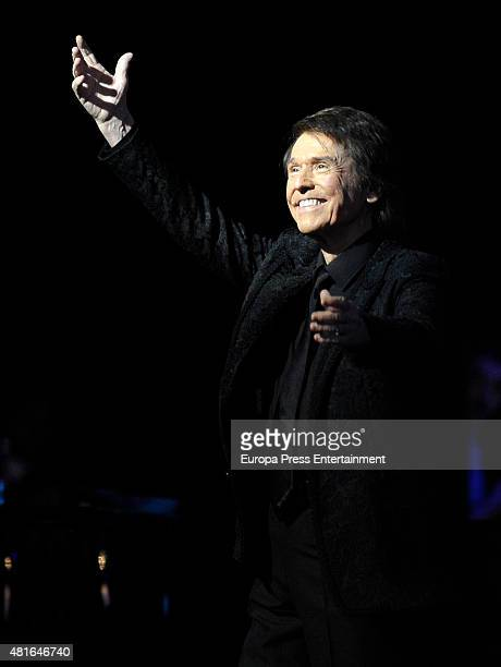 Raphael performs during his concert on July 22 2015 in Madrid Spain