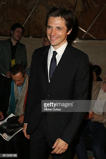 Raphael Personnaz attends the Cerruti show as part of the Paris Fashion Week Menswear Spring/Summer 2015 on June 27 2014 in Paris France