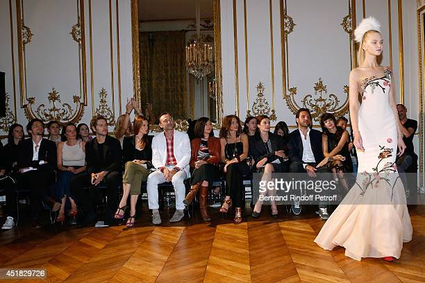 Raphael Personnaz Audrey Ismael Simon Buret Les Brigitte Sylvie Hoarau and Aurelie Saada Christophe Michalak and Delphine McCarty attend the Alexis...