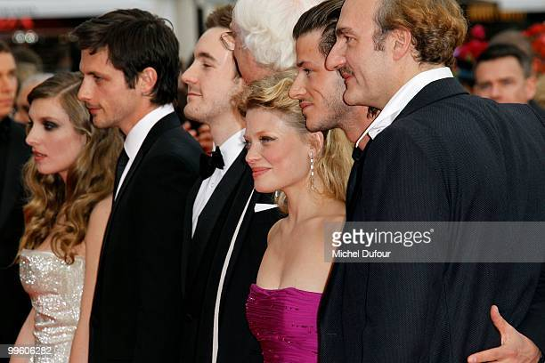 """Raphael Personnaz, Gregoire Leprince-Ringuet, actress Melanie Thierry and director Bertrand Tavernier and actor Gaspard Ulliel attend """"The Princess..."""
