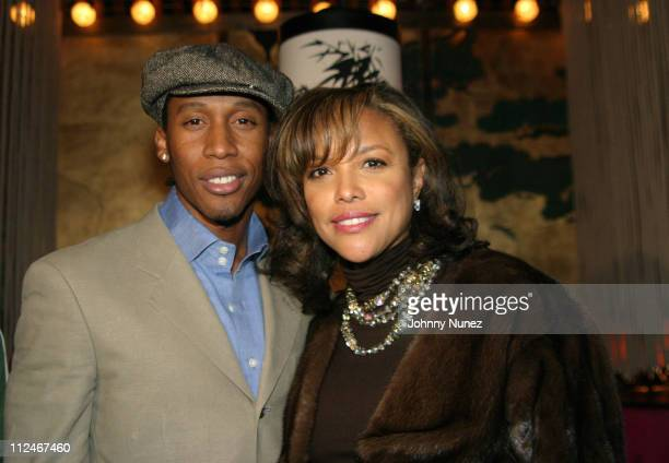 Raphael Saadiq and Lynn Whitfield during Raphael Saadiq Live Performace at Maritime Hotel in New York City New York United States