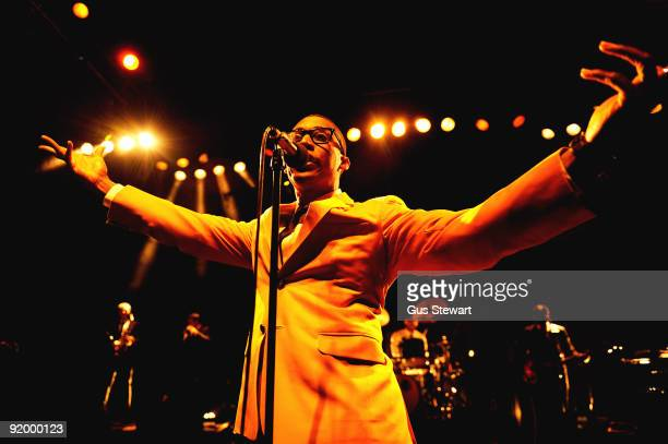 Raphael Saadiq performs on stage at Shepherds Bush Empire on October 19 2009 in London England