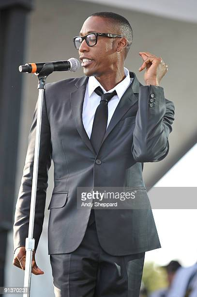 Raphael Saadiq performs on stage on Day 1 of Austin City Limits Festival 2009 at Zilker Park on October 2 2009 in Austin Texas