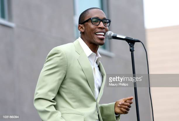 Raphael Saadiq preforms at the Los Angeles Chapter Grammy Block Party on July 31 2010 in Los Angeles California
