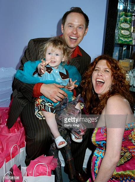 Raphael Sbarge and daughter Gracie and wife Lisa Akey