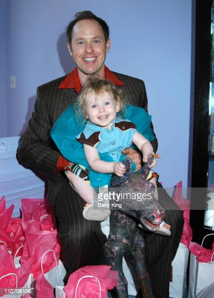 Raphael Sbarge and daughter Gracie during Sugar Baby Kid's Boutique Store Opening at Sugar Baby in Los Angeles California United States