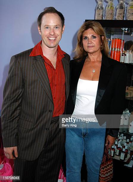 Raphael Sbarge and Sandy Carpenter during Sugar Baby Kid's Boutique Store Opening at Sugar Baby in Los Angeles California United States