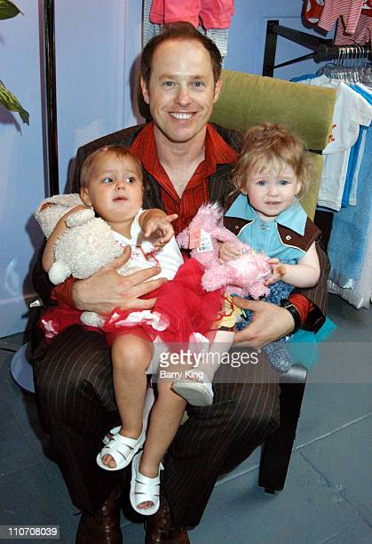 Raphael Sbarge Lilah Sitkevich and Gracie during Sugar Baby Kid's Boutique Store Opening at Sugar Baby in Los Angeles California United States