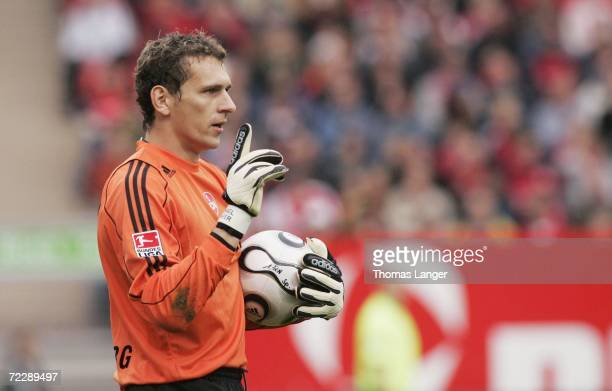 Raphael Schaefer of Nuremberg battle for the ball during the Bundesliga match between 1.FC Nuremberg and Borussia Dortmund at the EasyCredit stadium...