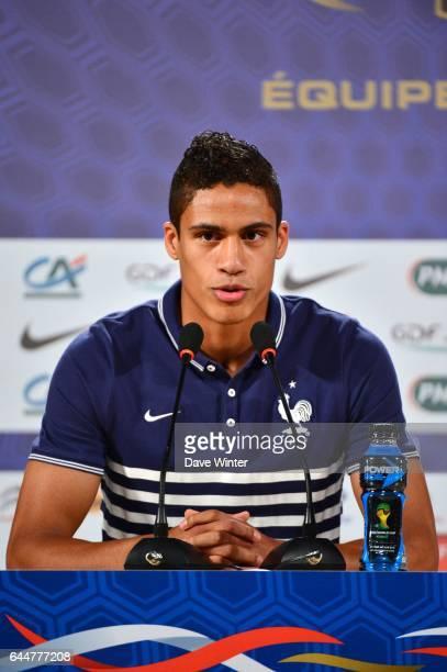 Raphael VARANE - - Conference de presse France - Coupe du Monde 2014 - Riberao Preto, Photo : Dave Winter / Icon Sport
