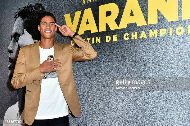 Raphael Varane attends the Varane Destin De Champion Screening At L'AccorHotels Arena In Paris at AccorHotels Arena on September 11 2019 in Paris...