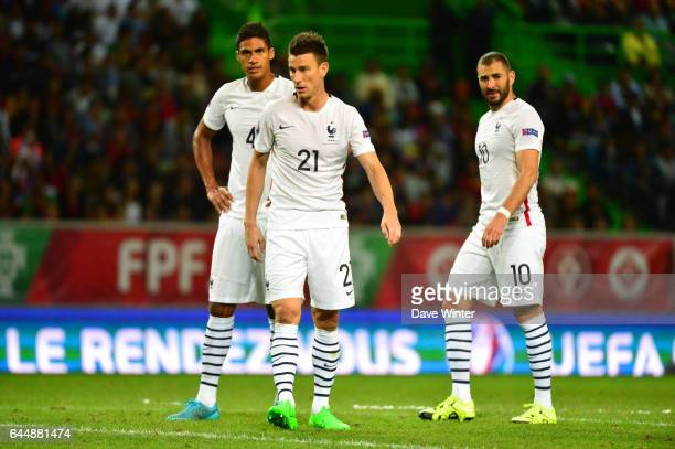 Raphael VARANE / Laurent KOSCIELNY / Karim BENZEMA Portugal / France Match Amical Photo Dave Winter / Icon Sport