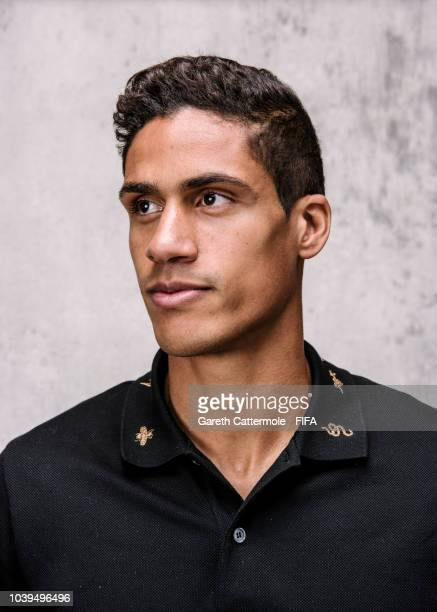 Raphael Varane of France and Real Madrid poses for a portrait prior to The Best FIFA Football Awards at London Marriott Hotel County Hall on...