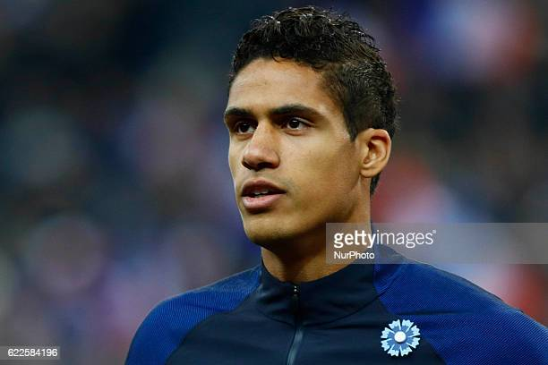 Raphael Varane of France during the 2018 World Cup group A qualifying football match between France and Sweden at the Stade de France in SaintDenis...