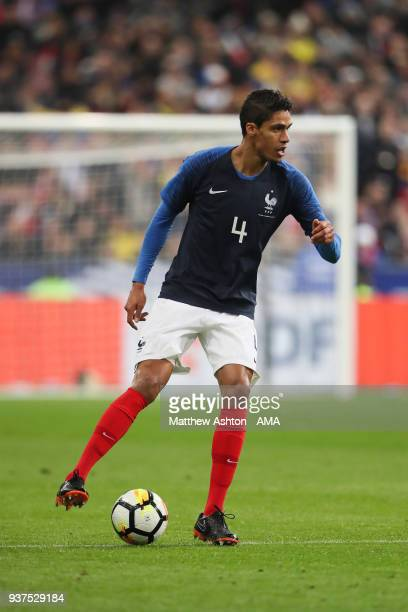 Raphael Varane of France during the International Friendly match between France and Colombia at Stade de France on March 23 2018 in Paris France