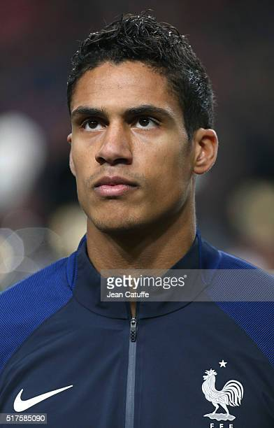 Raphael Varane of France looks on before the international friendly match between Netherlands and France at Amsterdam Arena on March 25 2016 in...