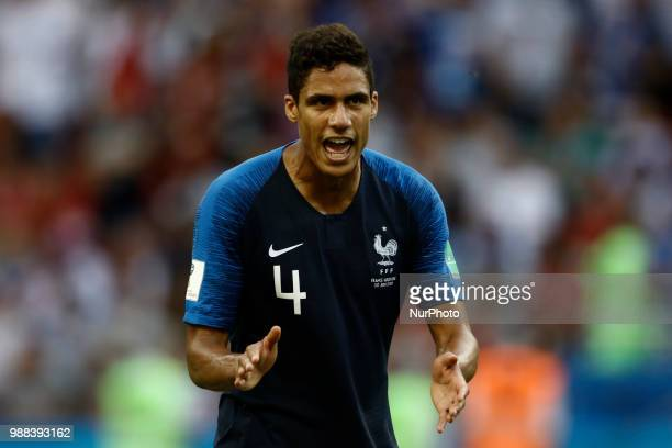 Raphael Varane of France team during the 2018 FIFA World Cup Russia Round of 16 match between France and Argentina at Kazan Arena on June 30 2018 in...