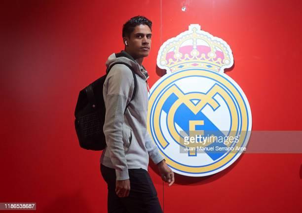Raphael Varane of Real Madrid CF arrives at the stadium ahead of the Liga match between SD Eibar SAD and Real Madrid CF at Ipurua Municipal Stadium...