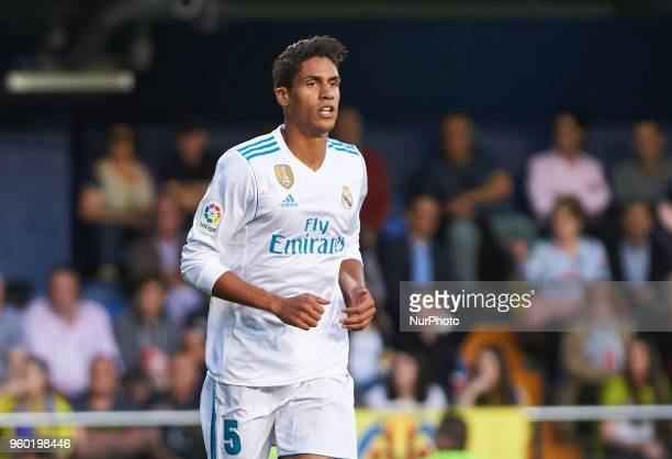 Raphael Varane of Real Madrid during the La Liga match between Villarreal CF and Real Madrid at La Ceramica Stadium on may 19 2018