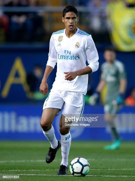 Raphael Varane of Real Madrid during the La Liga Santander match between Villarreal v Real Madrid at the Estadio de la Ceramica on May 19 2018 in...
