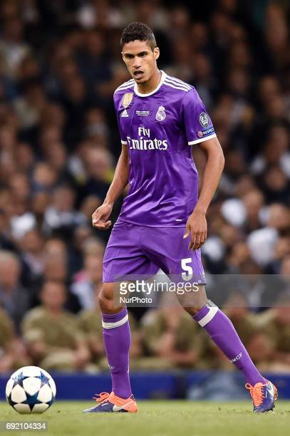 Raphael Varane of Real Madrid during the UEFA Champions League Final match between Real Madrid and Juventus at the National Stadium of Wales Cardiff...