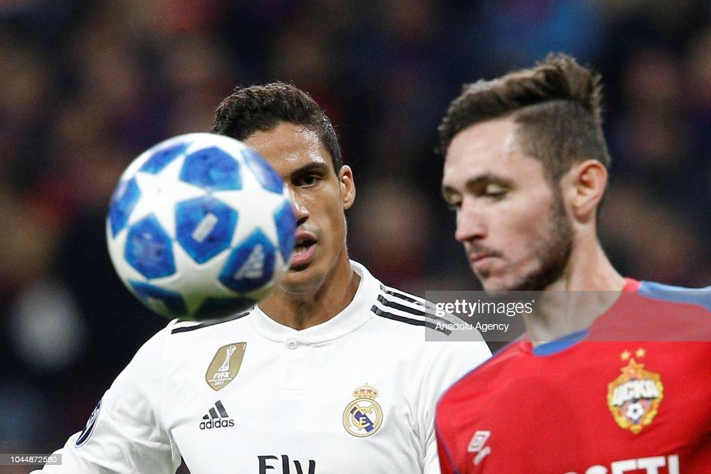 CSKA Moscow vs Real Madrid  - UEFA Champions League : News Photo